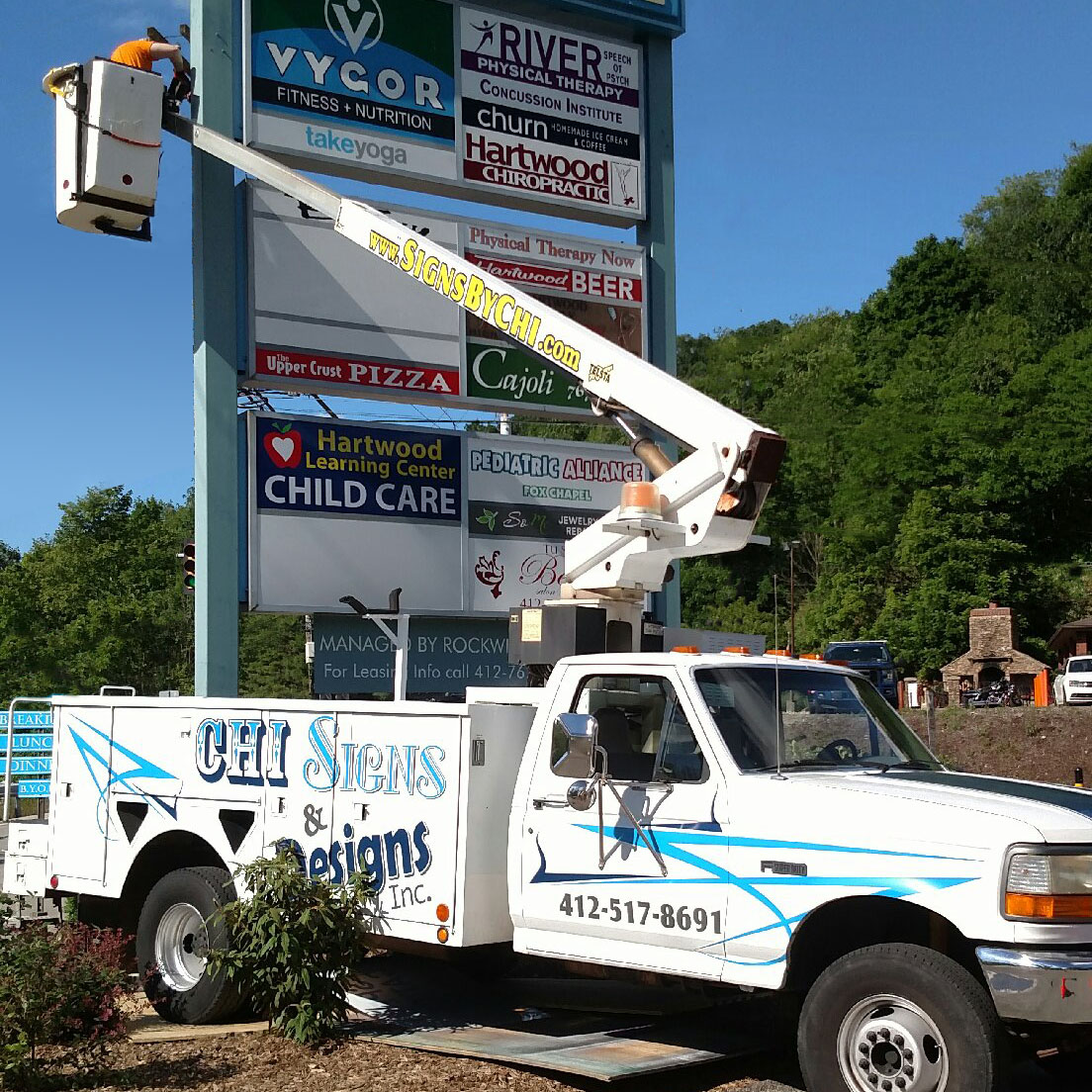 Pittsburgh Sign Company Bucket Truck